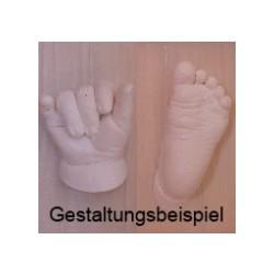 Gipsabdruckset für 2-3 x Babyhand oder Babyfuß