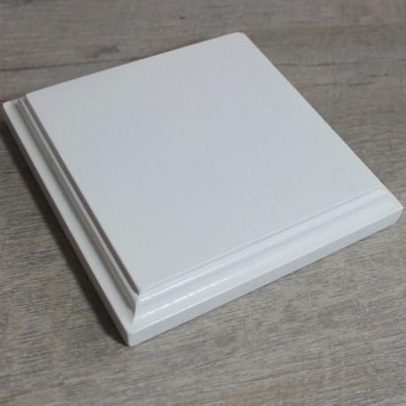 weißer Holzsockel für 3d Handabdruck oder Fußabdruck 12 cm x 12 cm x 2 cm