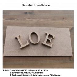 Bastelset Love-Rahmen