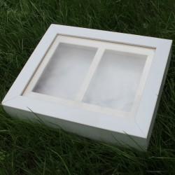 Objektbilderrahmen weiß für Hand-und Fußabdruck