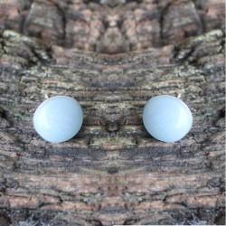 Muttermilch Schimmer- Ohrringe farbig Stecker 925 Sterlingsilber 1 Paar