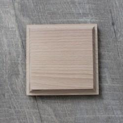 naturbelassener Holzsockel für 3d Handabdruck oder Fußabdruck