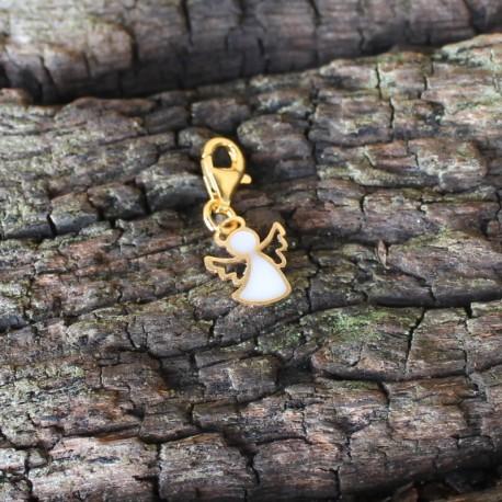 Engel goldfarben mit gefärbtem Harz gefüllt incl. Karabiner