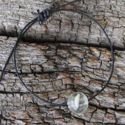 Perle mit Tierhaar und Milchzahn incl. Armband