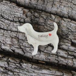 Erinnerungskette oder Schlüsselanhänger Hund mit Hundefell