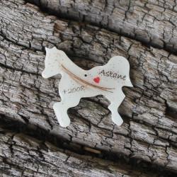 Erinnerungskette oder Schlüsselanhänger Pferd mit Schweifhaar